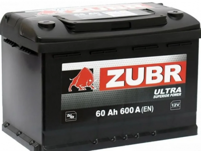 ZUBR Аккумуляторная батарея автомобильная AGM 60 A/h обратная полярность