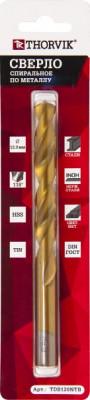 THORVIK Сверло спиральное по металлу HSS TiN в блистере, d3.5 мм