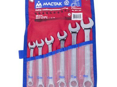 МАСТАК Набор ключей гаечных комбинированных, 10-19 мм, 6 предметов