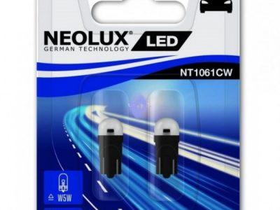 NEOLUX Лампа автомобильная W5W 12V LED 0.5W 6000K в блистере, 2 шт.