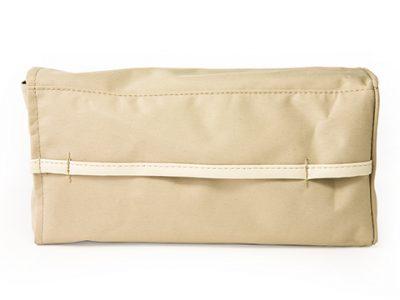 CARMATE Держатель для салфеток Tissue Case мягкий тканевый, бежевый