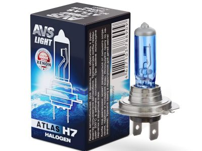 AVS Лампа автомобильная галогенная H7 12V.55W  ATLAS PB 5000К, ATLAS BOX H7