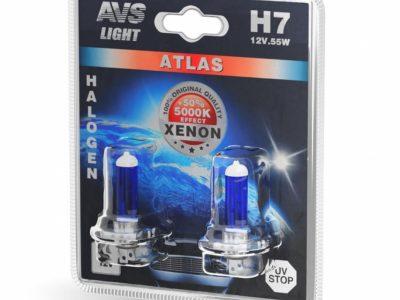 AVS Лампа галогенная ATLAS /5000К/ H7.12V.55W блистер, 2 шт