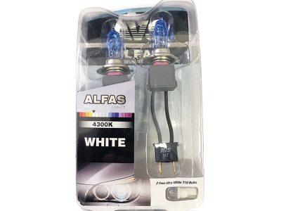 AVS Газонаполненные лампы H7 «Alfas» +130% 4300K, комплект 2шт