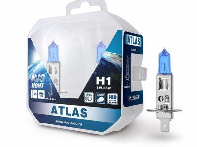 AVS Лампа галогенная ATLAS PB /5000К/ H1.12V.55W Plastic box, 2 шт.