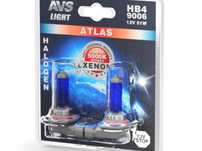 AVS Лампа галогенная ATLAS /5000К/ HB4/9006.12V.55W блистер, 2 шт.