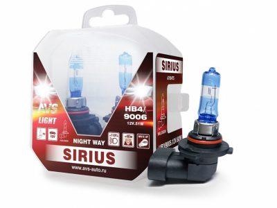 AVS Лампа галогенная SIRIUS NIGHT WAY HB4/9006.12V.55W Plastic box, 2 шт