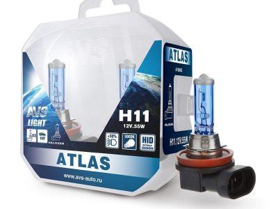 AVS Лампа галогенная ATLAS /5000К/ H11.12V.55W Plastic box, 2 шт