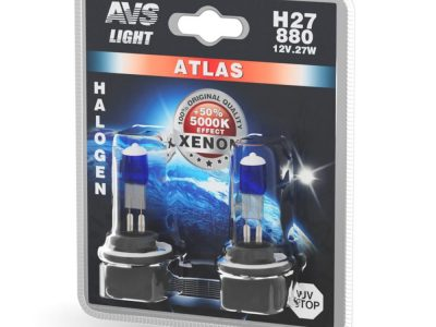 AVS Лампа галогенная ATLAS /5000К/ H27/880 12V.27W блистер, 2 шт