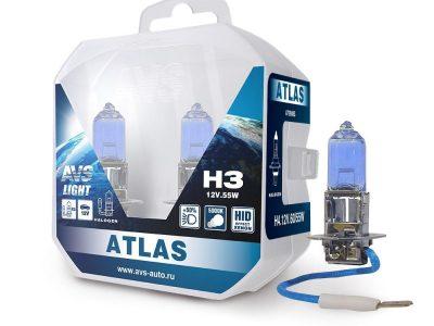 AVS Лампа галогенная ATLAS PB /5000К/ H4.12V.60/55W блистер, 2 шт.