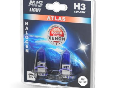 AVS Лампа галогенная ATLAS PB /5000К/ H3.12V.55W блистер, 2 шт.